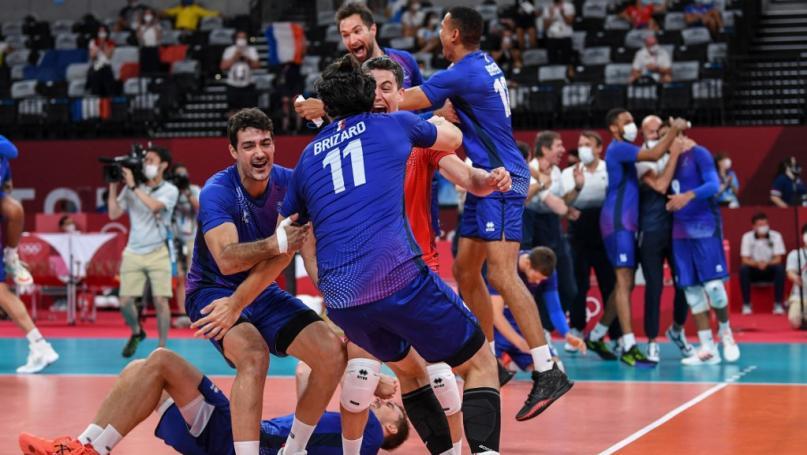 Image de couverture - VIDEO. JO 2021 - Volley : revivez les temps forts de la victoire de la France face à l'Argentine en demi-finale