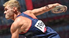 Image de couverture - VIDÉO. JO 2021 - Décathlon : décevant au lancer du disque, Kevin Mayer ne réussit pas à revenir sur Damian Warner