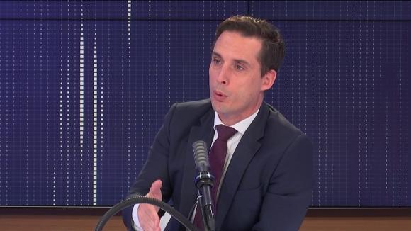 """Jean-Baptiste Djebbari, leministre délégué aux Transports, était l'invité du """"8h30 franceinfo"""", jeudi 5 août 2021."""