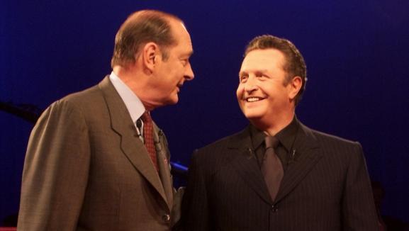 Jacques Chirac et Michel Field, en 1998.