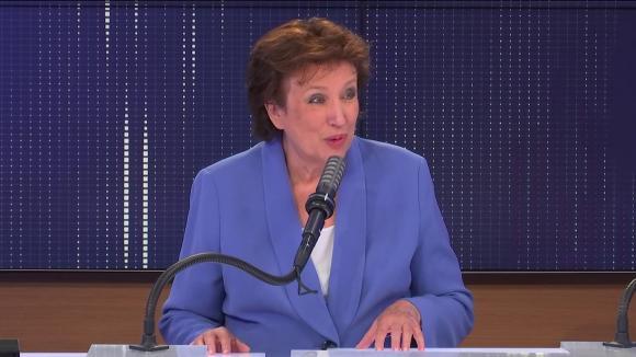 """Roselyne Bachelot,ministre de la Culture était l'invitée du """"8h30 franceinfo"""", lundi 30 août 2021."""