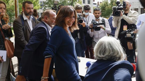 La maire de Paris Anne Hidalgo lors du Campus 21 organisé par le Parti socialiste à Blois (Loir-et-Cher) le 27 août 2021