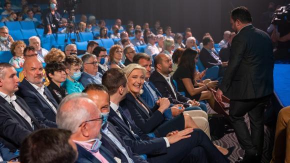 Marine Le Pen au congrés du RN, le 4 juillet 2021.