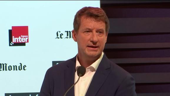 Yannick Jadot lors du premier débat de la primaire écologique, dimanche 5 septembre.