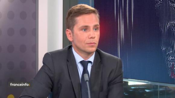 Pieyre-Alexandre Anglade, porte-parole du groupe LREM à l'Assemblée nationale, député des Français du Benelux, le 9 septembre 2021 sur franceinfo.