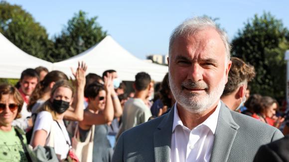 Jean-Marc Governatori, candidat à la primaire écologiste en vue de l'élection présidentielle 2022 lors de la deuxième journée des écologiste à Poitiers, le 20 août 2021.
