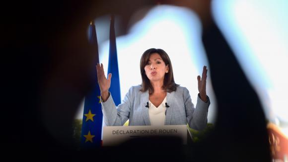 Anne Hidalgo à Rouen, le 12 septembre 2021.