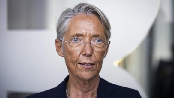 La ministre du Travail, Elisabeth Borne, participait à la rentrée des apprentis du CFA BTP de Rueil-Malmaison, le 3 septembre 2021. Photo d'illustration.