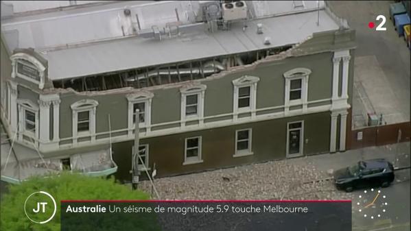 Australie : un séisme de magnitude 5,9 secoue Melbourne