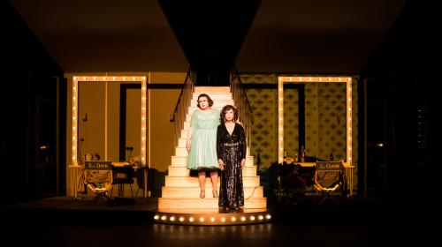 Image de couverture - Drôle et mélancolique : Amanda Lear et Michel Fau en Joan Crawford et Bette Davis, deux icônes névrosées dans la jungle d'Hollywood