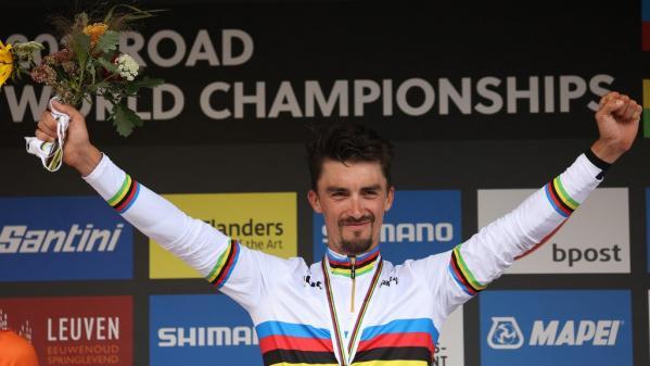 Cyclisme : Julian Alaphilippe, à nouveau sacré champion du monde