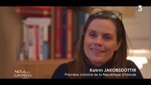 """VIDEO. """"Nous sommes un des pays les plus égalitaires au monde"""", affirme la Première ministre islandaise au magazine """"Nous, les Européens"""""""