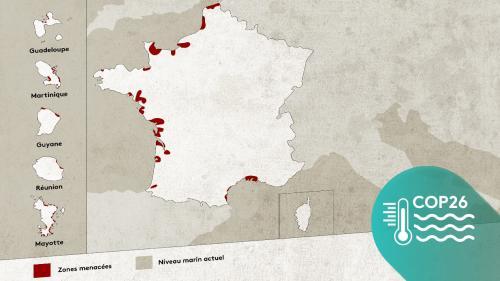 CARTE. #MontéeDesEaux : votre ville ou votre plage sont-elles menacées par le réchauffement climatique ?