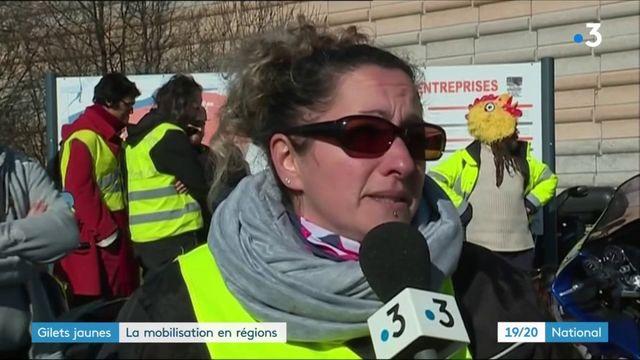 """""""Gilets jaunes"""" : la mobilisation en régions"""