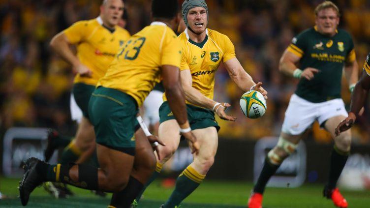 Le joueur de rugby australien David Pocock (PATRICK HAMILTON / AFP)