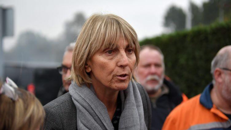La sénatrice du Nord Valérie Létard, le 25 octobre 2018, à Saint-Saulve sur le site d'Ascoval. (PIERRE ROUANET / MAXPPP)