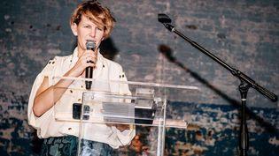 L'artiste Laure Prouvost à New York le 2 novembre 2018  (Nina Westervelt / WWD / Rex / Shutterstock / SIPA)