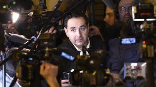 Me Elie Korchia, avocat de Samuel Sandler dans le procès Merah, le 2 novembre 2017, à Paris. (STEPHANE DE SAKUTIN / AFP)