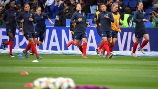 L'équipe de France féminine de football, le 7 juin 2019 au Parc des Princes, à Paris. (FRANCOIS XAVIER MARIT / AFP)