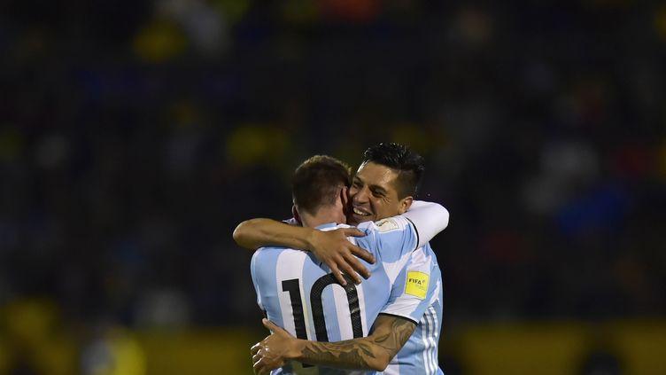 La joie des Argentins, qualifiés pour le Mondial 2018. (RODRIGO BUENDIA / AFP)