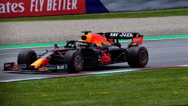 Max Verstappen (Red Bull) a décroché la pole du Grand Prix de Styrie le 26 juin 2021. (ANDREA DIODATO / AFP)