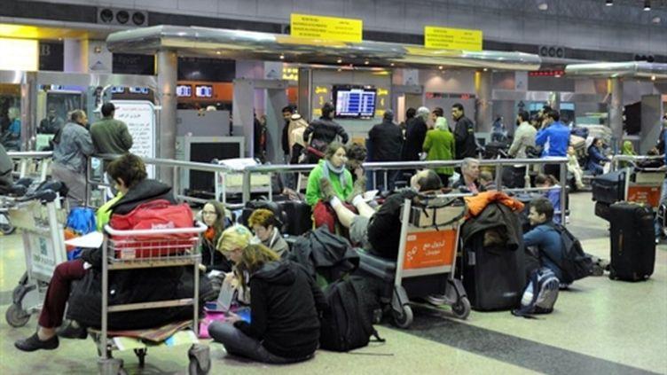 A l'aéroport du Caire (31 janvier 2011) (AFP/Miguel Medina)