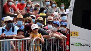 Le public au rendez-vous du Critérium du Dauphiné àSaint-Haon-le-Vieux, le 1er juin 2021. (PHILIPPE VACHER / MAXPPP)