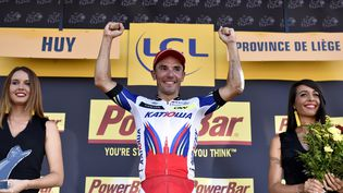 L'Espagnol Joaquim Rodriguez a remporté le troisième étape du tour de France, le 6 juillet 2015. (ERIC FEFERBERG / AFP)