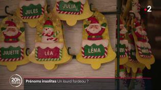 Des prénoms pour Noël. (France 2)