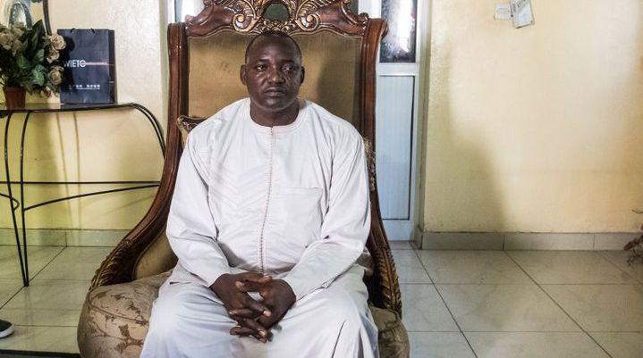 Adama Barrow, vainqueur de la présidentielle du 1er décembre 2016 en Gambie. (DIMITRIS CHANTZARAS/SOOC)