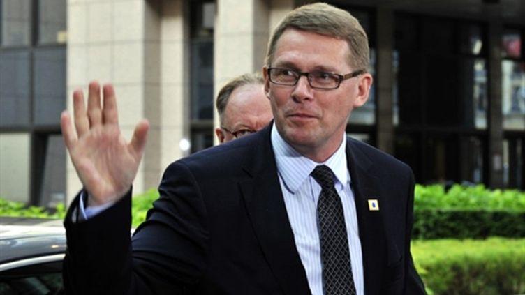 Matti Vanhanen à Bruxelles le 17 juin 2010 (AFP / Georges Gobet)