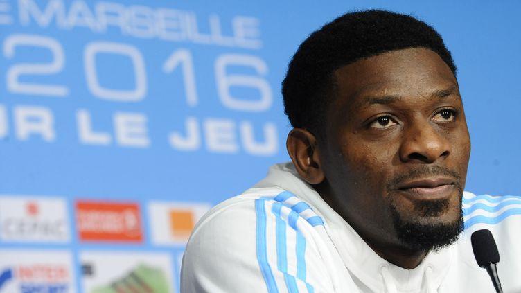 Abou Diaby (Marseille) en conférence de presse.  (FRANCK PENNANT / AFP)
