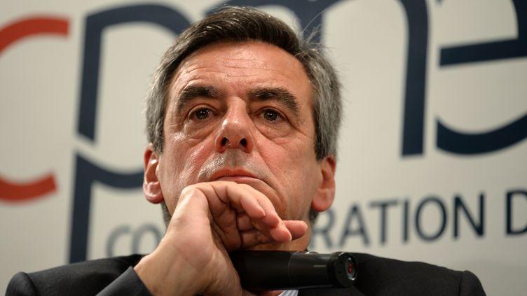 François Fillon, le 6 mars 2017. (ERIC PIERMONT / AFP)