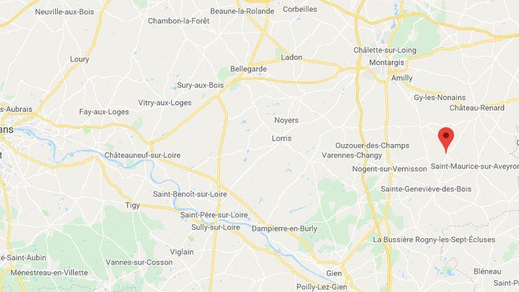 La commune de la Chapelle-sur-Aveyron près de Montargis. (GOOGLE MAPS / FRANCETV INFO)