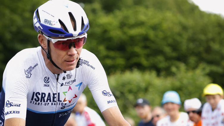 Chris Froome lors de la 2e étape du Tour de France 2021, le 27 juin. (THOMAS SAMSON / AFP)