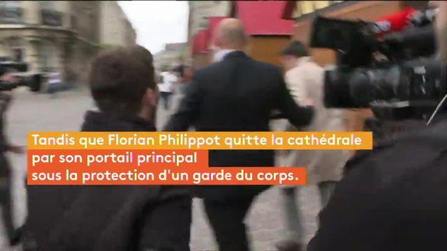 Reims : Marine Le Pen sort de la cathédrale  par une porte dérobée