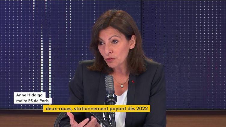 Anne Hidalgo, sur franceinfo, mercredi 23 juin. (FRANCEINFO / RADIOFRANCE)