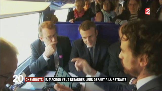 Cheminots : Emmanuel Macron veut la fin des régimes spéciaux