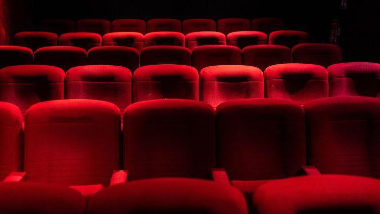 Une salle de cinéma à Paris, le 7 juin 2021. (XOSE BOUZAS / HANS LUCAS / AFP)