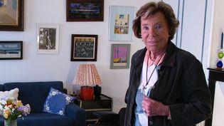 Benoîte Groult en 2011 dans son appartement parisien  (Laurence Houot / Culturebox)