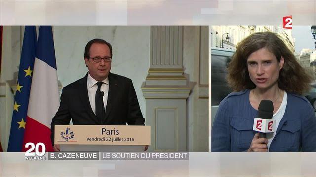Attentat de Nice : François Hollande soutient Bernard Cazeneuve