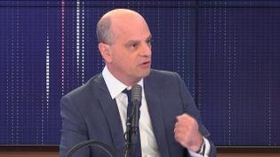 Jean-Michel Blanquer, le ministre de l'Education nationale, le 29 mai 2020, sur franceinfo. (FRANCEINFO / RADIO FRANCE)