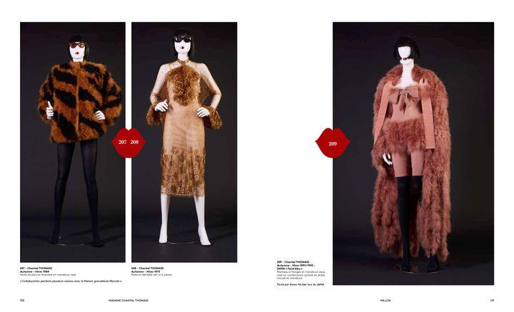 """Vente Chantal Thomass """"40 ans de mode"""" : de gauche à droite, automne-hiver 84, 75 et 91 (Jo Zhou)"""