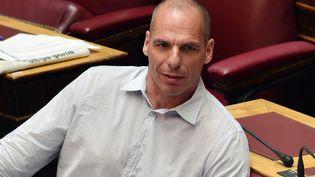 Yanis Varoufakis, ancien ministre des Finances grec, lors d'une session parlementaire, à Athènes, la capitale grecque, le 15 juillet 2015. (LOUISA GOULIAMAKI / AFP)