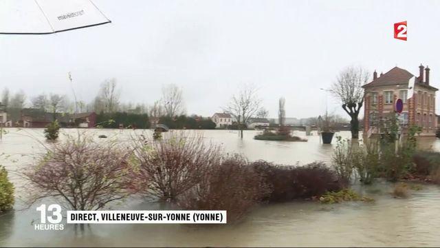 Inondations dans l'Yonne : la décrue retardée par le retour de la pluie