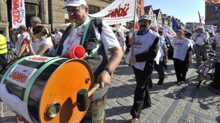 Manifestants européens contre l'austérité à Wroclaw, le 17 septembre 2011 (AFP/ADAM NURKIEWICZ)