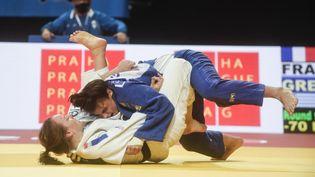 Margaux Pinot, double championne d'Europe en titre des -70kg. (MICHAL CIZEK / AFP)