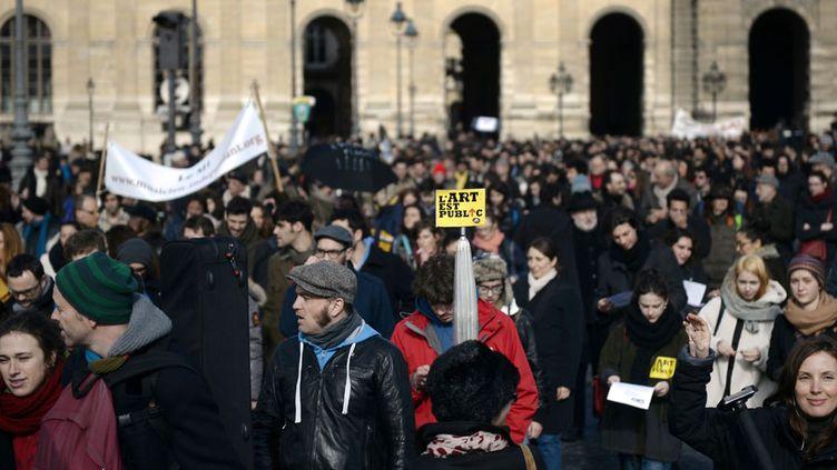 Les intermittents du spectacle manifestent à Paris (27 février 2014)  (Martin Bureau / AFP)