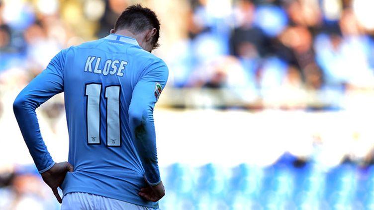 Miroslav Klose était arrivé à Rome à l'été 2011 (GABRIEL BOUYS / AFP)
