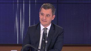 Gérald Darmanin, ministre de l'Intérieur, invité de franceinfo jeudi 10 décembre 2020.  (FRANCEINFO / RADIO FRANCE)